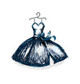 beautiful dress line vector image vector image
