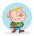 Blond Boy Walking To School vector image vector image