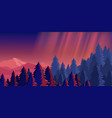 bright night sky mountain vector image