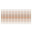 buddhist monk shape halftone grid vector image vector image