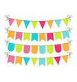 bunting for party birthday carnival and event vector image