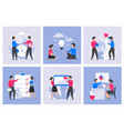business people concept cartoon office characters vector image vector image
