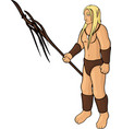cartoon elf druid vector image
