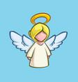 christmas cartoon icon - angel vector image vector image