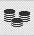 coins stack icon in flat style coin cash on vector image vector image