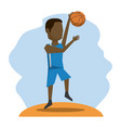 color scene with faceless basketball player vector image vector image