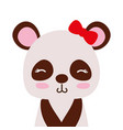 colorful adorable and shy panda female wild animal vector image