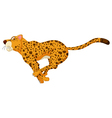 cute cheetah cartoon running vector image vector image