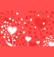 dandelions with hearts vector image