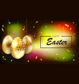 dark multicolor easter composition with the vector image vector image