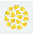 decorating design made of yellow rubber vector image