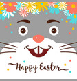 easter bunny happy card cute rabbit vector image