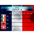 european soccer group a vector image vector image