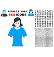 female icon with bonus vector image vector image
