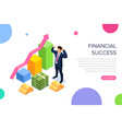 financial success concept with characters can use vector image