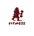 fitness grunge caveman design template vector image vector image