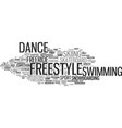 freestyle word cloud concept vector image vector image