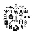 golf equipment icons set simple style vector image vector image