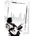 guitarist poster vector image vector image