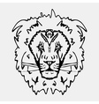 Hand-drawn pencil graphics lion head Engraving vector image