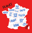 hand drawn stylized map france travel vector image vector image
