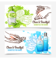 Hands Washing Banners vector image vector image