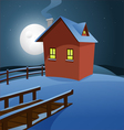 house in snow vector image