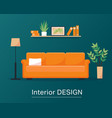 interior design concept or background vector image vector image