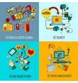 Internet Of Things Concept Set vector image vector image