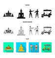 isolated object journey and exotic icon vector image