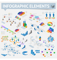 Isometric style infographics with data icons vector image vector image