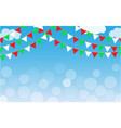 italian holiday background with space for text vector image vector image