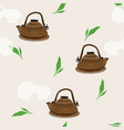 japanese tea kettle engravedseamless pattern vector image vector image