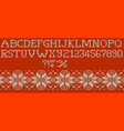 knitted merry christmas alphabet eps 10 vector image vector image