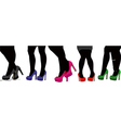Legs in silhouette vector image vector image