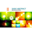 mega collection of shiny abstract vector image vector image