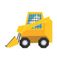 mini bulldozer with protected windows skid loader vector image