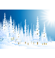 morning winter forest vector image