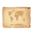 Old parchment with world map vector | Price: 1 Credit (USD $1)