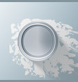 paint jar bucket with splashes of white paint vector image vector image