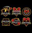 ping pong logo and badge set image vector image