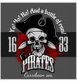 Pirate with pirate hat and pipe vector image vector image