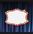 realistic retro cinema announcement board with vector image vector image