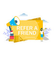 refer a friend flat style design vector image
