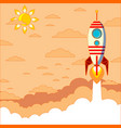 rocket launchship vector image