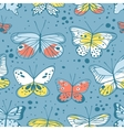 Seamless pattern with butterfly Hand drawn vector image vector image