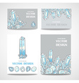 Set of banners and business cards with crystals vector image