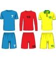 Set of different soccer uniform vector image vector image