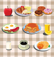 set of food vector image vector image