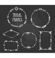 Set of wreaths and frames with place for your text vector image vector image